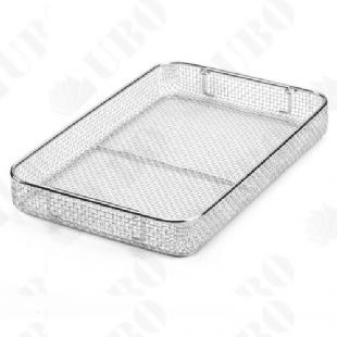 Wire mesh cleaning tray
