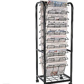 Office display stand newspaper book store wire rack